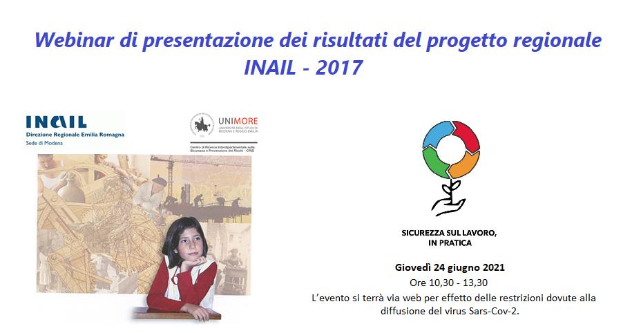 Webinar progetto regionale INAIL 2017
